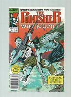 1989 MARVEL COMICS PUNISHER WAR JOURNAL 7 NEWSSTAND ($20) WOLVERINE JIM STAN LEE