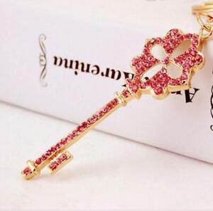 Jewelry Betsey Johnson Enamel Pednant Rhinestone Flowers key chain necklace Gift
