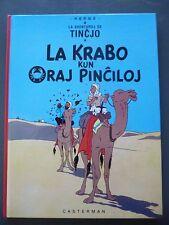 "Tintin ""Le crabe aux pinces d'or"" EO en espéranto 1981 TBE"
