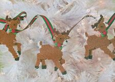 Reindeer Garland Christmas Plastic Canvas Pattern Instructions