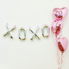 Valentines Day XOXO kisses Hugs Hearts Party Hanging Balloon Banner Decoration