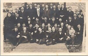 RPPC Bottineau ND Judges & Lawyers outside District Court House 1909