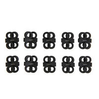 10X Clip Clamp Cord Lock EDC Cross Outdoor Shoelace Buckle Stopper Rope Best  LF