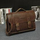 Mens-Leather-Messenger-Shoulder-Bags-Briefcase-Laptop-Bag-Handbag-Business-Work