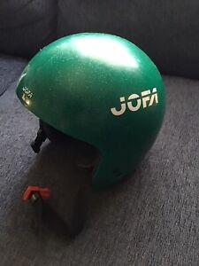VTG Jofa Ski Helmet Sz S Green Sparkle Pump Up Sweden VTG GC Snowboard Longboard