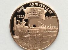 1975 Franklin Mint Stockton & Darlington Railway Proof Bronze Medal A2173