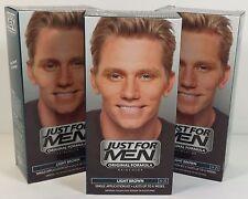 JUST FOR MEN Original Formula Hair Color Light Brown H-25  kit / 3-Packs