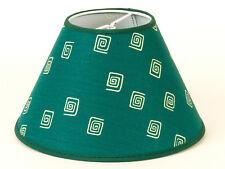 Lampenschirm dunkel-grün mit beigen  Kringel  Aufsteckschirm E14 Landhaus