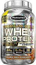 MuscleTech Premium Gold 100% Whey Protein Powder, 2.2 Lbs, Double Rich Chocolate