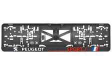 Peugeot Sport 2xECHTE 3D-Effekt Kennzeichenhalter Nummernschildhalter