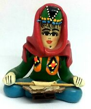 Storyteller Resin Tradition Doll Native Old Arabic Woman Sitting Dough Hhinning