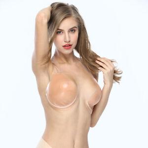 Women Silicone Breast Lift Adhesive Bra Invisible Underwire Nipple Cover Nipple