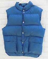 LL Bean Youth Goose Down Puffer Vest Jacket Blue Hunting Fishing Size Medium M