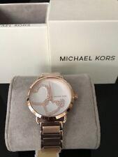 Michael Kors MK3825 Portia Rose Gold-Tone Stainless Steel Bracelet Watch 37mm