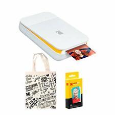 KODAK Smile Instant Digital Printer (White/Yellow) Tote Bag Bundle