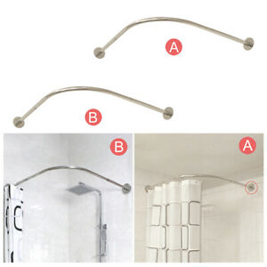 Adjustable curved shower curtain rod 30-51 inches, 304 stainless steel