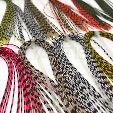 GRIZZLY BARRED RUBBER LEGS - Hareline Fly Tying Material - 12 Colors Available!