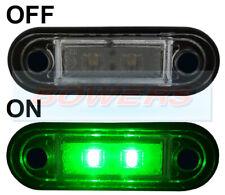 12V/24V FLUSH FIT GREEN LED MARKER LAMP / LIGHT TRUCK VAN LORRY KELSA BAR AS RDX