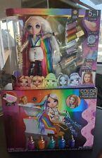 "🌈 AMAYA RAINE 🌈 Rainbow High Hair Studio Fashion Doll 11"" & Hair Salon bundle"