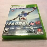 Madden NFL 16 (Microsoft Xbox 360, 2015) No Manual Fast Free Shipping Very Good