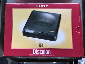 Sony Discman D-11 CD Compact Player in Box Excellent with Accessories and Cords