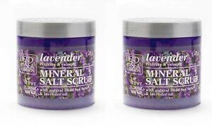 2 X Dead Sea Collection Lavender Oil Mineral Salt Natural Bath Body Scrub Large
