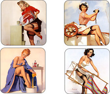 Pin-up Girls Mug Coaster Set Pin up Girls drinks coaster