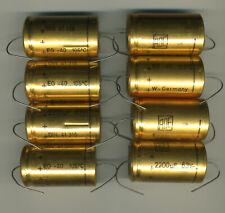 LOT DE 8 CONDENSATEURS CHIMIQUES AXIAUX 2200 µF - 63 V ROE