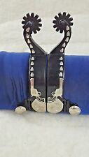 Tough-1 Kelly Silver Star Western Shooter with Bullet Design - Men's Spurs