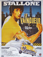 Affiche 120x160cm LE VAINQUEUR /RHINESTONE 1984 Clark - Sylvester Stallone TBE