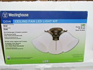 Westinghouse Oiled Rubbed Bronze 3 Light Cluster Ceiling Fan LED Light Kit - NEW