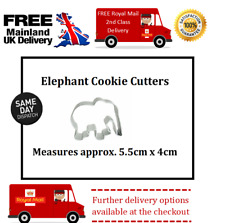 Small elephant cookie cutter perfect for fondant icing cupcakes / cakes