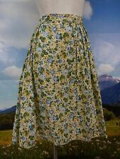 Drei Zinnen Trachtenrock beige Baumwolle Blumendruck tolle Trachten Rock Gr.40
