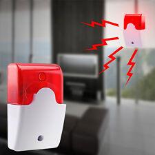 New 12V Mini Wired Sound Alarm Strobe Flashing Light Siren Home Security System