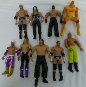 "Job Lot Bundle 9 Wrestling Figures 6""-8"" E21"