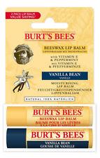 Burt's Bees LIP BALM DUO Gift Set: Beeswax & Vanilla Bean Lipbalm 2 x 4.25g