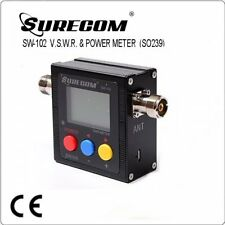 SURECOM 102 SO239 connector V.S.W.R. POWER METER w/build in Frequency counter_AU