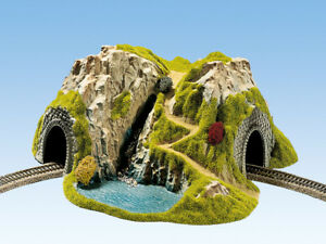 Noch 48730 Tt Gauge, Corner Tunnel, 1-gleisig, Bent, 37x33cm # New IN Boxed#