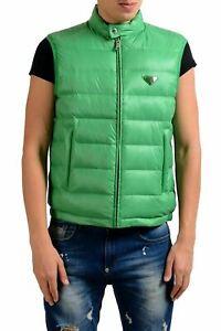 Prada Men's Green Down Full Zip Vest Size M L XL 2XL 3XL