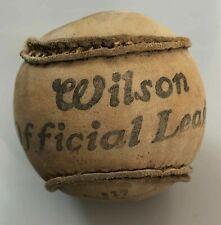 Ancienne rare balle de Baseball Wilson official league WW1 YMCA vintage ball