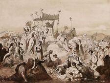 Rudolf LEHMANN dessin troubadour scène historique Pape Italie tableau anglais