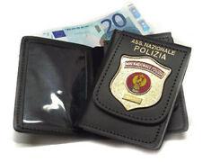 Portafoglio con Placca Associazione Nazionale Polizia di Stato in pelle