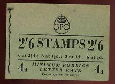 Gb kgvi/qe2 compuesto cosido folleto 2/6 Sg F6 Sept De 1953 15mm ppp