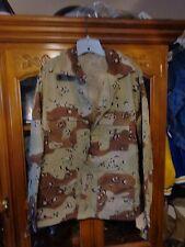 DESERT STORM  ARMY 6 Color Desert Camo Combat Shirt MEDIUM REGULAR NEW W/ OUT