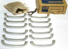 SPLENDID UNUSED OLD STOCK SET OF 12 X VINTAGE ALUMINIUM CUPBOARD HANDLES 1950s