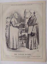 Revista Punch Antiguo Libro impresión 1874 Vaticano Papa Dr Manning 10x8 pulgadas