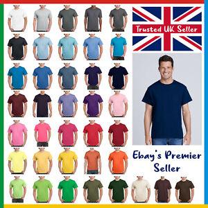 Mens Plain T-Shirt / Gildan Heavy Cotton Tee / New Value Blank T Shirt