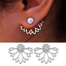 Women Fashion Hollow Lotus Shaped Stud Earrings Girl Earring Jewelry Accessories