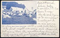 SCARCE SILVER LAKE FRANKLIN VERMONT BOYS CAMP PRIVATE MAILING POSTCARD