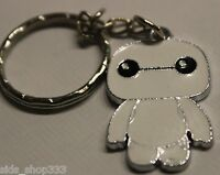 Keyrings Keychains Baymax Style Key Chain Chrome Silver Chains KW167